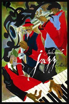 jacksonville jazz festival posters   Shop > 2006 Commemorative Jacksonville Jazz Festival Poster - Unsigned