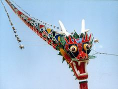 Chinese Dragon Kite Made From Paper