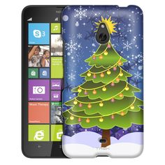Nokia Lumia 1320 Christmas-1 Tree on Blue Slim Case