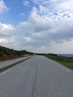 Straight road in Yonaguni island.