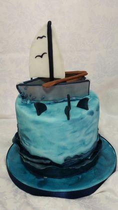 Barca vela cake