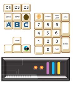 Agency D3 VBS - I made this 10-key keyboard layout for our VBS and wanted to share.  I printed it on cardstock to use