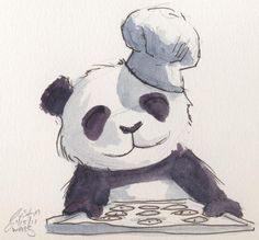 THIS IS ME IM A PANDA AND A CHEF OMG