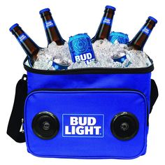 Grab it fast Bud Light Soft Cooler Bluetooth Speaker Portable Travel Cooler with Built in Speakers BudLight Wireless Speaker Cool Ice Pack Cold Beer Stereo for Apple iPhone, Samsung Galaxy Best Speakers, Cool Bluetooth Speakers, Built In Speakers, Bud Light, Light Blue, Small Portable Speakers, Soft Cooler Bag, Gifts For Beer Lovers, Best Gifts