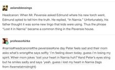 Then Susan starts to forget that's it's not just a saying, but a real place and ceases to believe in Narnia anymore. <<< I think I left my heart in Narnia too Narnia 3, Chronicles Of Narnia, Book Fandoms, Superwholock, Book Nerd, Hunger Games, Book Series, Book Worms, Nerdy