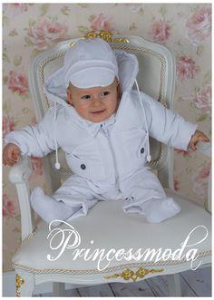 Nr.20 Eleganter Taufanzug inkl. Jacke in weiß! - Princessmoda - Alles für Taufe Kommunion und festliche Anlässe
