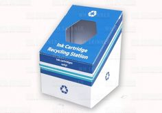 Ink Cartridge Recycling Box – WH Skinner  Small dump bin recycling box for collection and recycling of used ink cartridges | Sturdy design of dump bin can be re-used countless times – once it is finished with, it's 100% recyclable with regular paper and card waste | Manufactured from corrugated cardboard which is 70%-100% recycled board depending on the grade you choose