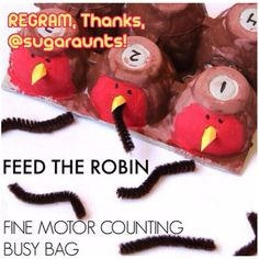 Thanks, @sugaraunts for permission to regram!! Robins and worms are on the blog. Spring begins tomorrow, yippee! We're a little early, but you know what the early bird gets, - - click on pin for more!    - Like our instagram posts?  Please follow us there at instagram.com/pediastaff