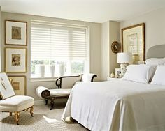 Stonington Gray (Benjamin Moore)  This color goes with almost anything and you will not tire of it, can lighten a room