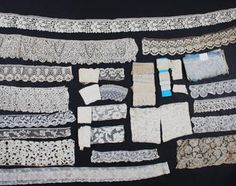 A large quantity of collector's lace edgings from 17th to 20th century
