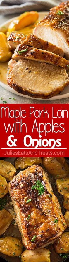 I like to simmer my apples with sauerkraut and top my pork loin...this one sounds very good too!