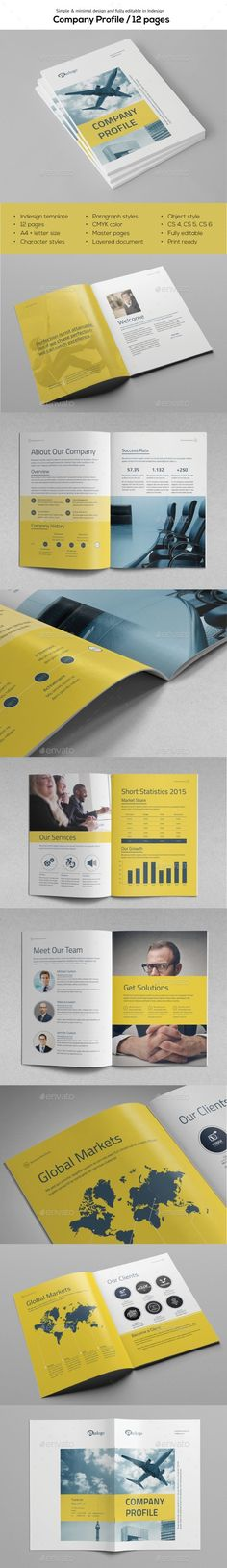 Company Profile Brochure Template InDesign INDD. Download here: https://graphicriver.net/item/company-profile-vol1/17484925?ref=ksioks