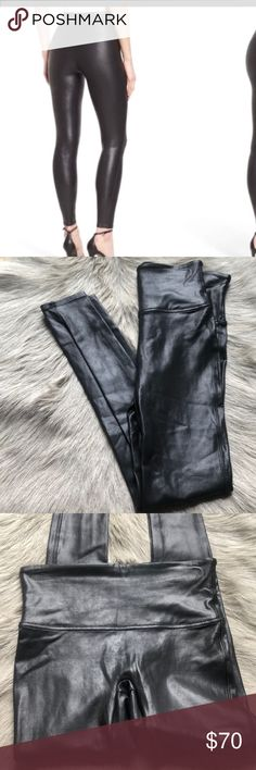 4d435d0744701 New Spanx Faux Leather Leggings Black M New without tags. Size medium. SPANX  Pants