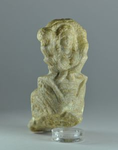Roman Egyptian marble spider goddess, 1st-4th century A.D. Spider goddess with female head with long hair and body of spider with legs, 7.8 cm high. Private collection