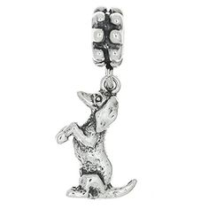 Sterling Silver Sitting up Dachshund Weenie Dog Dangle Bead Charm * Read more reviews of the product by visiting the link on the image.