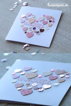 Ideas & instructions for small cards with Meine KREATIVBOX Herzlich! Valentine History, Valentine Day Cards, Valentines, Diy Birthday, Birthday Cards, Creative Box, Saint Valentine, Small Cards, Diy Cards