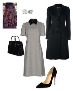 """""""Work"""" by cgraham1 on Polyvore featuring Prada, Christian Louboutin, Yves Saint Laurent and Dolce&Gabbana"""