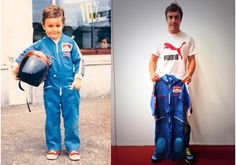 You're a hardcore fan, but Fernando Alonso wins! Check out his first overalls! See more memorabilia at Gp F1, Alonso, Car And Driver, Formula One, Ice Hockey, First World, Race Cars, Under Armour, Overalls