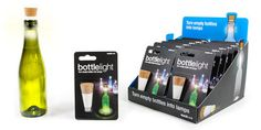 Rechargeable Bottle Light : Rechargeable Light that Turns Empty Bottles into Lamps @Suck UK