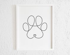 Dog Paw Drawing, Doodle Drawing, Doodle Wall, Dog Line Drawing, Dog Line Art, Paw Print Drawing, Dog Paw Art, Drawing Hair, Drawing Faces