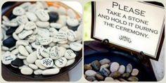 Le pouvoir des pierres : rituel pour cérémonie laïque