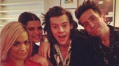 Harry with Rita Ora and Grimmy