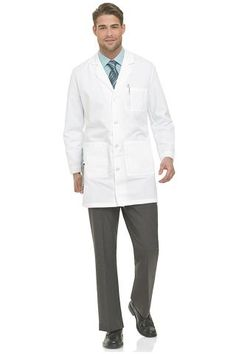 Dr. Emmett wears this lab coat to distinguish himself among the patients.