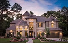 beautiful homes 5814 Stratton Woods Dr, Spring, TX 77389 Luxury Homes Dream Houses, Luxury House Plans, Dream House Plans, Style At Home, Dream Mansion, Dream House Exterior, Luxury Homes Exterior, Big Houses Exterior, Exterior Design