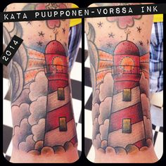 https://www.facebook.com/VorssaInk, http://tattoosbykata.blogspot.fi, #tattoo #tatuointi #katapuupponen #vorssaink #forssa #finland #traditionaltattoo #suomi #oldschool #pin up #lighthouse