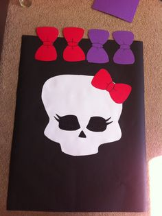 Monster high party game, pin the bow on the skull :) can't wait to play it!!