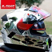 4e5e9e9b US $139.0 |LS2 global store LS2 FF390 Breaker Chrome plated helmet Ninja Full  Face Motocycle helmet Free Pinlock Fog Free System helmet -in Helmets from  ...