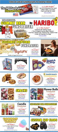 ABC Fundraising® offers the highest profit on your next fundraiser- guaranteed! Earn up to 97.6% profit with our brand new Spinners® fundraising program. ABC Fundraising® also offers the highest profit on scratch cards, cookie dough, Auntie Anne's Pretzels, discount cards and candle fundraisers. Get free samples now! No money up front needed.