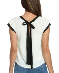 Contrast Open Back Top | Shop Tops at Wet Seal