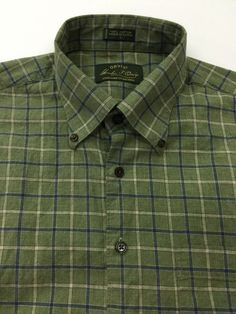 ORVIS Signature Collection Green Blue Plaid Shirt Men's Large Cotton Outdoor in Clothing, Shoes & Accessories | eBay