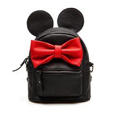 2016 Leather Girl Cute Backpack Small Scholl Mini Bow Top-Handle Backpacks Women Bag Mickey Ears Mochila Escolar Feminina Pink