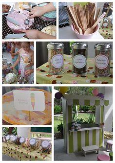 ice cream party...dollar store glass shaker jars for sprinkles | For SRC Volunteer Ice Cream Party | LFF Designs | www.facebook.com/LFFdesigns