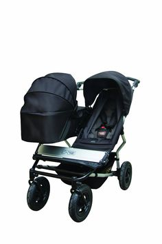 Amazon.com : Mountain Buggy Duet Double Buggy Stroller, Black/Flint : Infant Car Seat Stroller Travel Systems : Baby