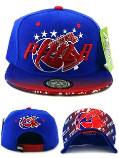 a90f035d20d Legend of the Game Philadelphia New Leader Sixers 76ers Colors Phila Philly Blue  Red Era Snapback Hat