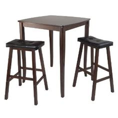 Winsome Inglewood High/Pub Dining Table with Cushioned Saddle Stool, 3-Piece (Misc.)  http://mobilephone.10h.us/amazon.php?p=[PRODUCT_ID  B005NBYBWO