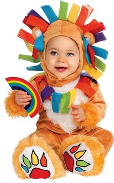 Costume leoncino arcobaleno bebè http://www.vegaoo.it/travestimento-leoncino-arcobaleno-bebe.html