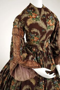 Print Dress, ca. 1850 | In the Swan's Shadow