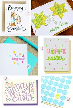 #Easter Card Round-Up: http://ohsobeautifulpaper.com/2015/03/seasonal-stationery-easter-cards-3/ | 7. Lydia & Pugs; 8. Noteworthy Paper & Press; 9. Kiss & Punch; 10. Hartford Prints; 11. Hennel Paper Co.; 12. Grey Moggie | Click through for full links and resources!