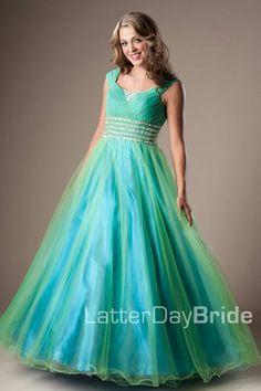 Pretty modest fun prom dress