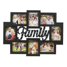 melancco 8 opening family collage picture frame with led lights