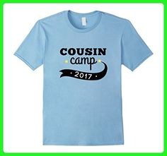 Mens Cousin Camp 2017 T-Shirt for Grandparents Camp, Reunion 2XL Baby Blue - Relatives and family shirts (*Amazon Partner-Link)