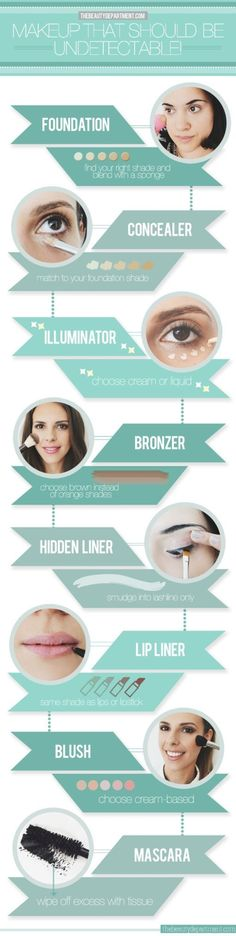 29 #Makeup Infographics for a Library of Awesome Tips ...