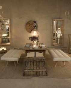 dinning room - vintage - rustic - natural - neutrals