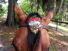 Tribal Feather Dragonfly Browband Ornament for by MyBuddyBling