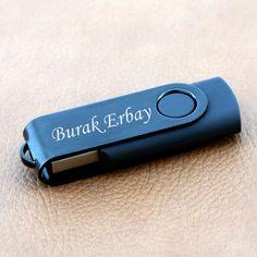 Kişiye Özel Siyah USB Bellek