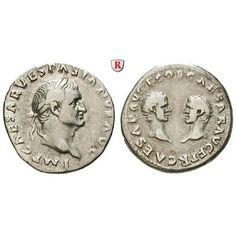 Römische Kaiserzeit, Vespasianus, Denar 69-71, ss+: Vespasianus 69-79. Denar 17 mm 69-71 Rom. Kopf r. mit Lorbeerkranz IMP CAESAR… #coins